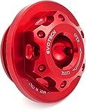 Evotech Tappo olio motore in ergal M25x1,5 Rosso