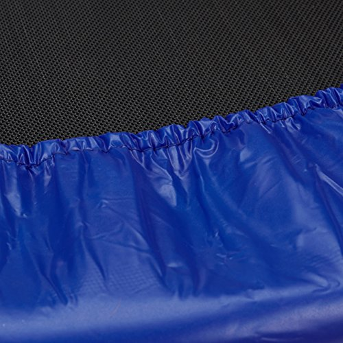 Relaxdays Trampolin Kinder, Faltbar, Max. Personengewicht: 45 kg, HxBxT: 22 x 96 x 96 cm, blau-schwarz -