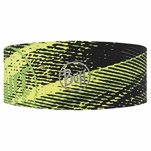 Original Buff Flash Logo Yellow Fluor - Headband Tech unisex, diseño estampado