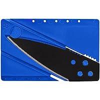 WFV2010 - Coltello formato carta di credito, pieghevole e tascabile ideale per attività all'aperto, campeggio e sopravvivenza, colore blu