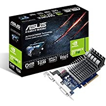 ASUS 710-1-SL-BRK NVIDIA GeForce GT 710 1GB - Tarjeta gráfica (Pasivo, NVIDIA, GeForce GT 710, GDDR3, PCI Express 2.0, 2560 x 1600 Pixeles)
