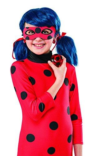 Deguisement complet 5/6 ans LADYBUG miraculous combinaison perruque gants yoyo