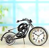 Uhr Alarm Bronze Motorrad Uhr Kreative Ornamente Geschenke Metall Handwerk Persönlichkeit Retro Nachahmung Alte Geschenke Mute Dekoration