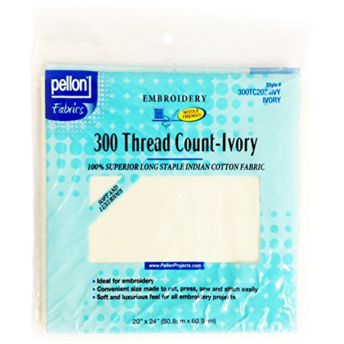 Pellon 300 Thread Count Cotton Fabric for Embroidery-Ivory