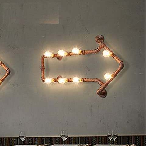 Winson Seppia Industrial Soggiorno Camera da letto Studio Il ristorante è moderno e minimalista di Arti Creative Bar ferro tubo luci a parete