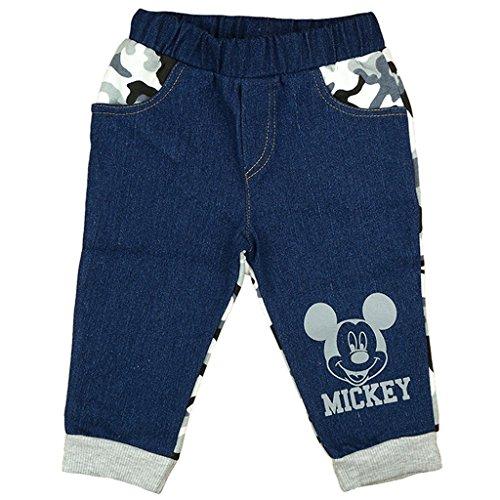 Jungen JEANS-HOSE / BABY-HOSE Mickey Mouse mit Camouflage und Motiv, GRÖSSE 86, 92, 98, 104, 110, 116, SPIEL-HOSE mit abgesetzten Taschen, als Freizeit-Hose oder Jogging-Hose Size 110
