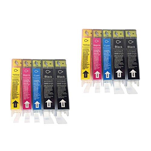 10Cartuchos de impresora compatible con HP 364X L 364XL (4x Negro, 2Cian, 2magenta, 2amarillo) con HP Photosmart 5510, 5511, 5512, 5514, 5515, 5520, 5522, 5524, 6510, 6520, 6512, 6515, 7510, 7520, 7515, B8550, B8558, B110C, B010a, B010b, B111A, C5324, C5370, C5373, C5383, C5388, C5390, C5393, C6324, C6375, C6380, C6388, D5460, D5463, D5468y D7560, C309a, C309g, C310a, C310C, C410a, B209a,, B210a, B210C, B210e, HP Deskjet 3070A Cartuchos de impresora HP 364X L