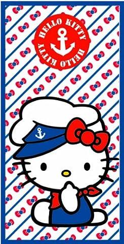 Serviette Sortie drap de bain plage Hello Kitty 70 cm x 140 cm fille enfant 100 % Coton