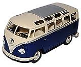 Collection 711 KINSAMBABLAU_Ohne VW Volkswagen T1 Dunkel Blau Weiss Samba Bully Bus 1950-1967 1/24