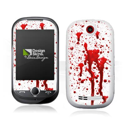 DeinDesign Samsung Corby S3650 Case Skin Sticker aus Vinyl-Folie Aufkleber Blut Halloween Gothic