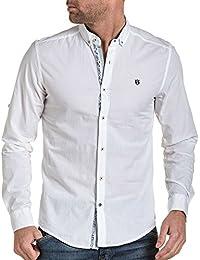 BLZ jeans - Chemise homme blanche longues manches col boutonnées