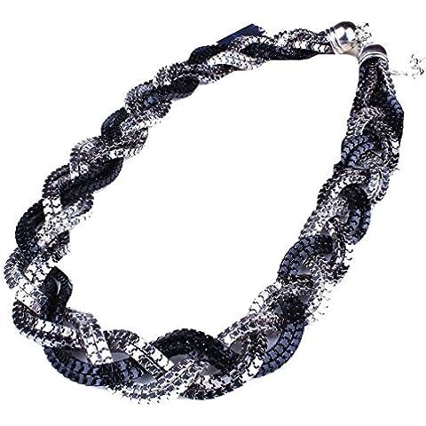 Grueso Color De La Mezcla De La Cadena De La Serpiente Del Collar Babero Trenzado Dama De La Moda Collar De Las