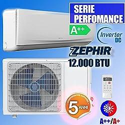 Climatiseur Inverter DC 12 000 BTU Zephir A ++ A + Pompe à Chaleur