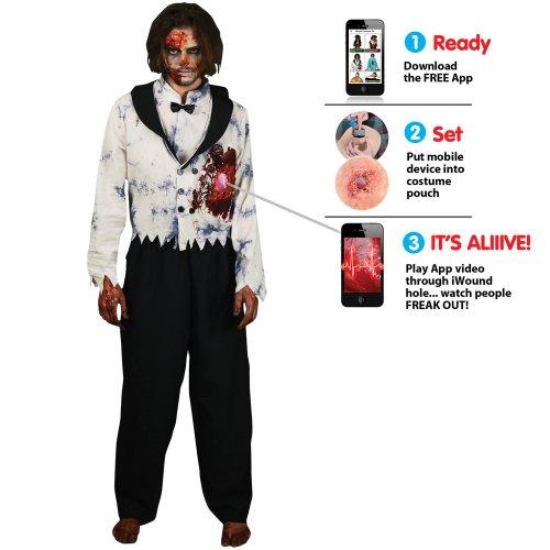 Morph Costume Co di Morphsuits cuore pulsante Zombie Mens Costume (XL)