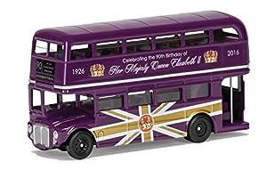 Corgi® CC82326 el 90 cumpleaños de HM Queen Elizabeth II conmemorativo Die-Cast Souvenir Classic Routemaster Modelo