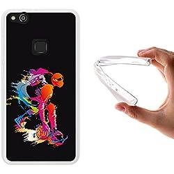 Funda Huawei P10 Lite, WoowCase [ Huawei P10 Lite ] Funda Silicona Gel Flexible Jugador de Baloncesto 2, Carcasa Case TPU Silicona - Transparente