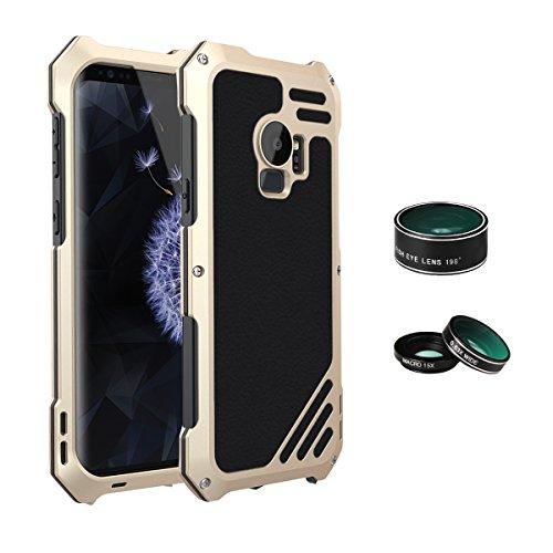 ARBLOVE Lente Cover per Galaxy S9 Custodia Antiurto,a Prova di Caduta,Anticaduta,Robusta,Militare,Ottima Protezione per attività Sportive all'Aperto per Galaxy S9,Gold