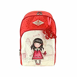 Mochila – Mochila Escolar Triple Bolsillo Gorjuss Time To Fly Adaptable A Carro – -5% En Libros