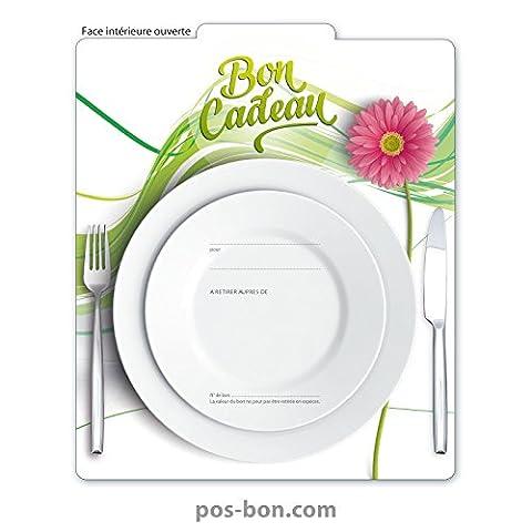 100 Bons cadeaux pour restaurants, hôtellerie, bistrots, gastronomie G2008F