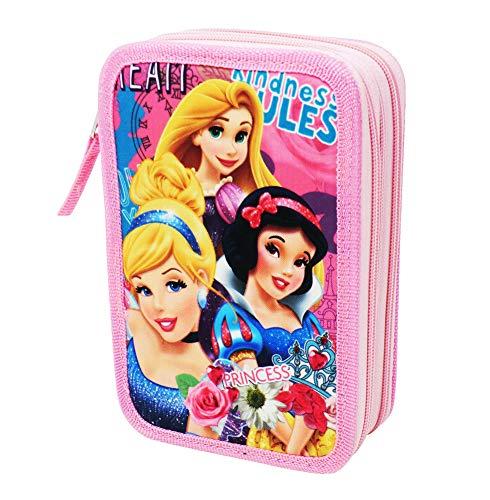 Estuche Disney Princesas para La Escuela Gran Capacidad 44 Piezas