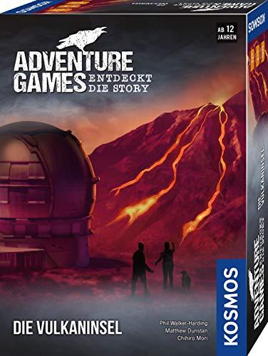 KOSMOS 693169 - Adventure Games - Die Vulkaninsel, Entdeckt die Story, Kooperatives Gesellschaftsspiel für 1 bis 4 Spieler ab 12 Jahren, Abenteuer-Spiel