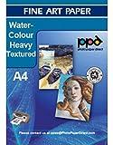 PPD Inkjet Fine Art Aquarell Papier, leicht strukturiert, weich, weiß, DIN A4,...