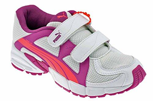 Puma Axis V3 Kid Baskets Basses Neuf Chaussures . Blanc / Violet