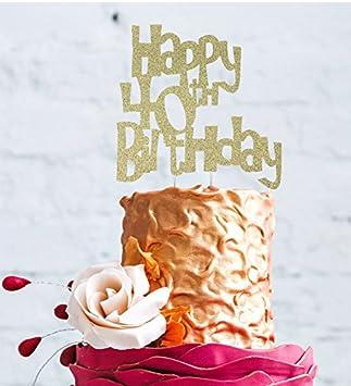 Happy 40th Birthday Cake Topper Glitter Gold Fun Style Amazon