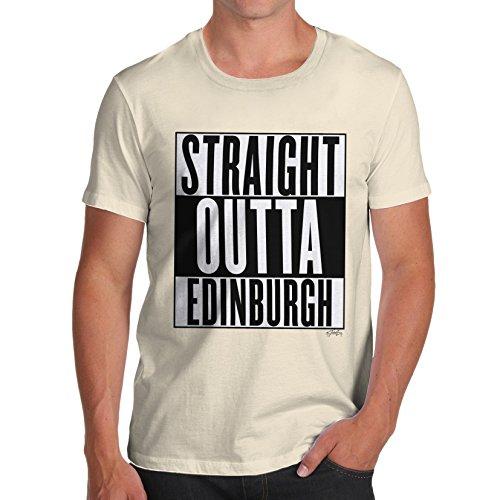 Herren Straight Outta Edinburgh T-Shirt Elfenbein