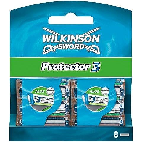 Wilkinson Sword Protector - Hoja de afeitar para hombre, 8 unidades