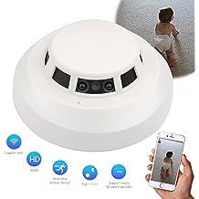 SpyCent Wi-Fi Detector de Humo HD Spy Alarma de vigilancia ocultada Cámara de Seguridad