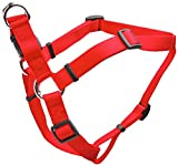 Verstellbare Komfort Wrap Nylon Hundegeschirr in rot Größe: 2,5cm W x 66cm-96,5cm D
