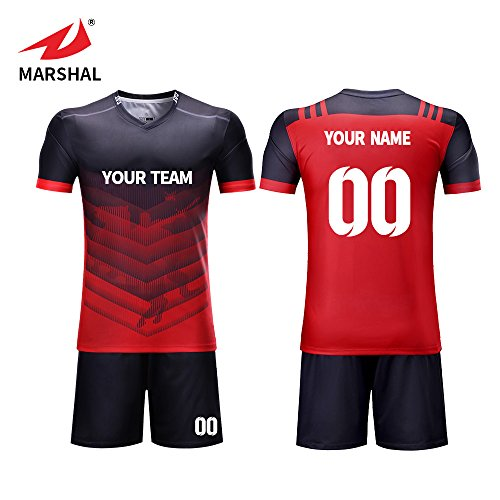 ZHOUKA kundenspezifische Sublimationsfarbe verblassen Nicht Fußball-Trikot Können Logo und Zahl Tun ZHOUKA (5XL) -