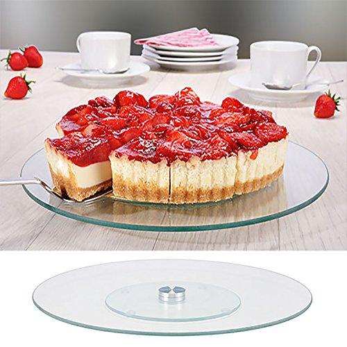 Tortenplatte Tortenständer Kuchenplatte Servierplatte Glas Ø 30 cm drehbar