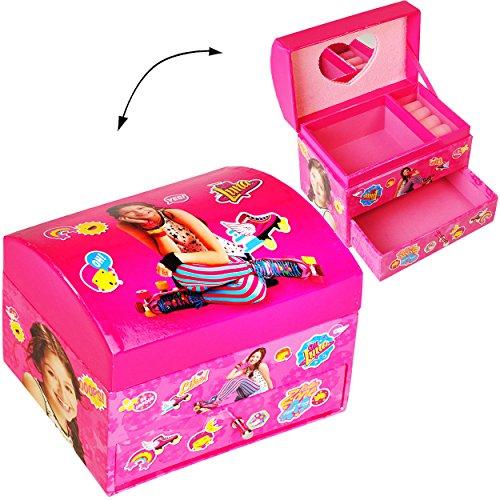 alles-meine.de GmbH Schmuckkasten - mit Schubladen + Spiegel -  Disney - Soy Luna  - Mädchen - z.B. für Schmuck - Schmuckbox Schmuckkästchen / Schmuckdose - Box / Kiste - Utens.. -
