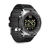 ZRSJ Smart Watch EX18 Schrittzähler Wasserdichte Bluetooth Smartwatch Anruf SMS Erinnerung Armbanduhr Aktivität Tracker Sportuhr Kompatibel mit Android iOS System (schwarz)