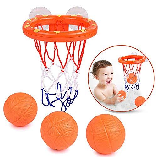 DAREYOU Jouets pour Le Bain Panier de Basket pour Le Bain Amusant pour Enfants et Tout-Petits avec 3 Balles,Cadeau bébé Enfant