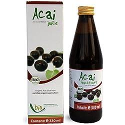 Bio Acai Saft - 100% - 330ml Glasflasche, 330ml