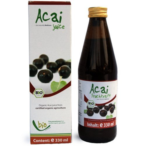 Bio Acai Saft - 100% - 330ml Glasflasche, 330ml -