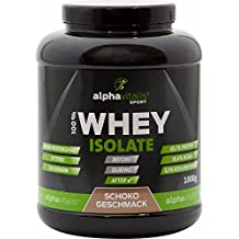 100% Whey Isolat Schoko - H²O-optimiert - 85,7% Protein! - Low CARB und low FAT - Optimale Aufnahme - 1000g - ohne Aspartam oder Cyclamat