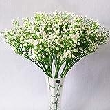 LoiStu Fashion 10 PC-Weiß Gypsophila künstliche gefälschte schöne Blumen-Zuhause-Party Hochzeitsdeko Blumen (Weiß)