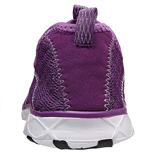 Aleader Ladies Water Shoes Net Slipper Purple8521a