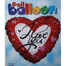 (806) 45.7cm CORAZÓN Globo Metalizado De Helio I LOVE YOU Ideal para Regalo San Valentín