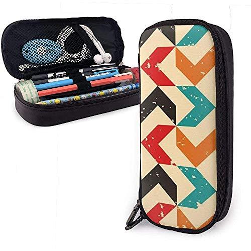 Farbige Bumerang PU Leder Tasche Aufbewahrungsbeutel Student Bleistift Büro Schreibwaren Tasche Reißverschluss Geldbörsen Make-up Tasche