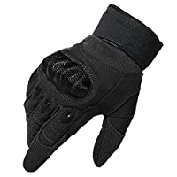 kinnor Outdoor Gloves Full Finger Cycling Motorcycle Gloves for Motorcycle Climbing Shooting Driving Hiking Skiing Outdoor Sports Light Cycling with Velcro