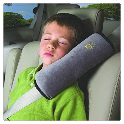 Tefamore Autositze Gurtpolster Schlafkissen Nackenstütze , Baby Kinder Sicherheitsgurt Auto Sitz Gürtel Kissen Schulter Schutz (Grau)