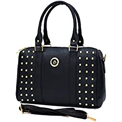 INKDICE women's Handbag for Women(SS,Black)