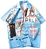 Zrom T Shirt for Men Stylish,Mens Summer Fashion Shirts Casual Short Sleeve Beach Tops Loose Casual Blouse