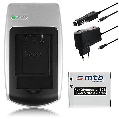 Chargeur + Batterie Li-50b pour Olympus