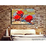 [Sponsored]Tamatina Canvas Paintings - Red Roses - Abstract - Modern Art Paintings - Paintings For Home Décor - Paintings For Drawing Room - Wall Paintings For Bedroom - Paintings For Living Room - Canvas Paintings For Wall - Large Size Canvas Pain